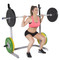 Model squatting using the adidas Sport Adjustable Training Bench with Squat Rack