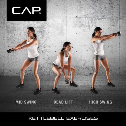 CAP Hammertone Cast Iron Kettlebell Exercises