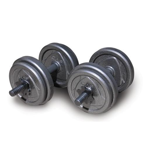 CAP Adjustable Cast Iron Dumbbell Set