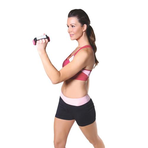 Model using Tone Fitness Neoprene Coated Walking Dumbbells