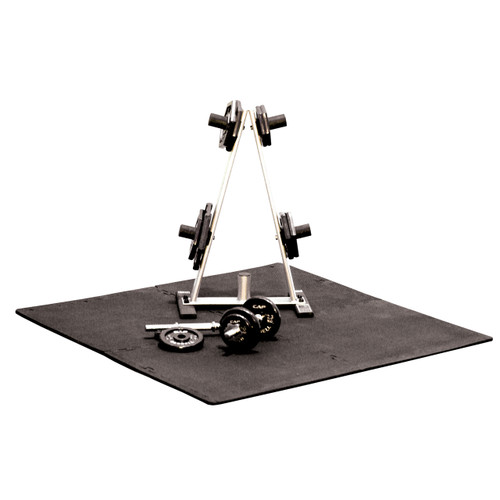 Plate rack on top of CAP 4-Piece High Density Puzzle Mat