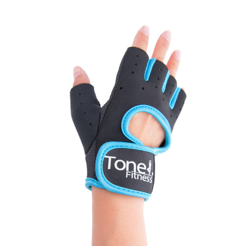 Tone Fitness Teal Weightlifting Gloves