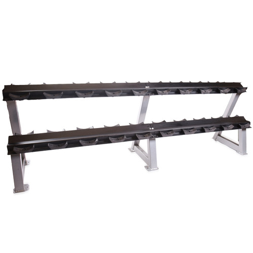 CAP Commercial Two-Tier Dumbbell Rack with Saddles, 95 inch