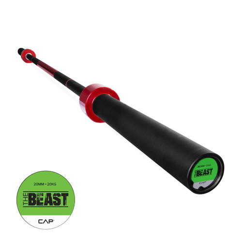 "CAP Custom ""The Beast"" Olympic Lifting Bar, Cherry Bomb Red (OB-86B-R)"
