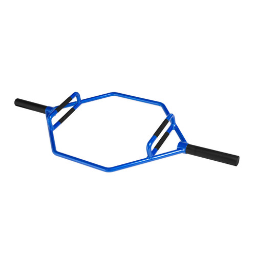 CAP Barbell Olympic 2-Inch Combo Hex Bar, Blue Flame (OB-89HZ-B)