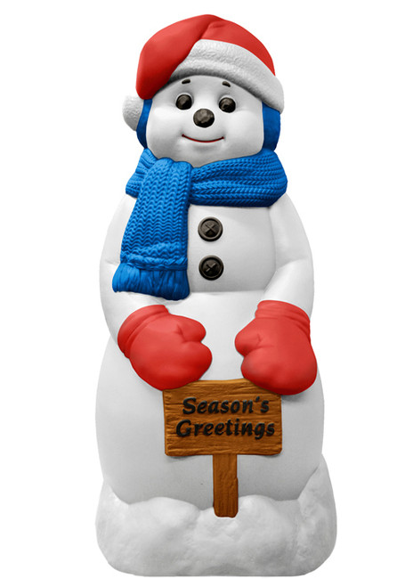 "31"" Season's Greetings Snowman Blow Mold Decoration C5170"