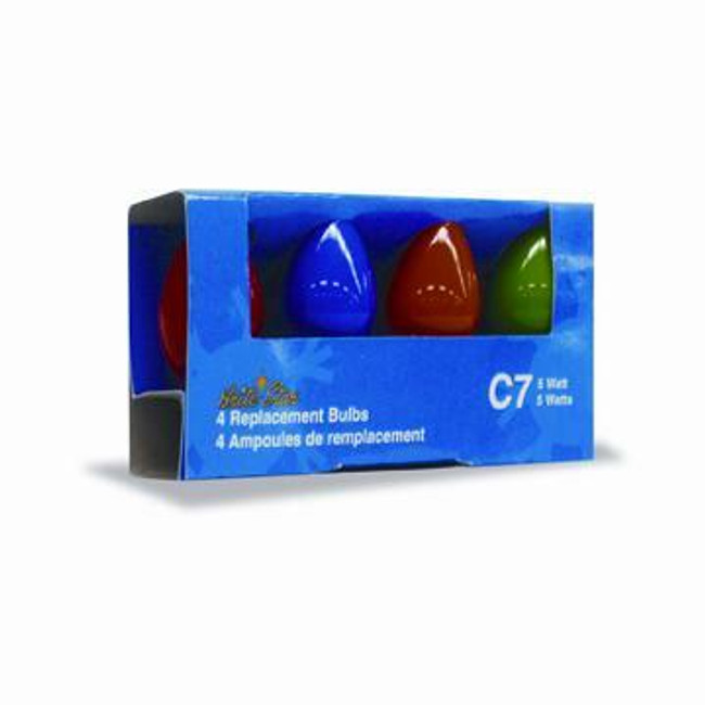 4 pk Multi Color C7 Replacement Bulbs