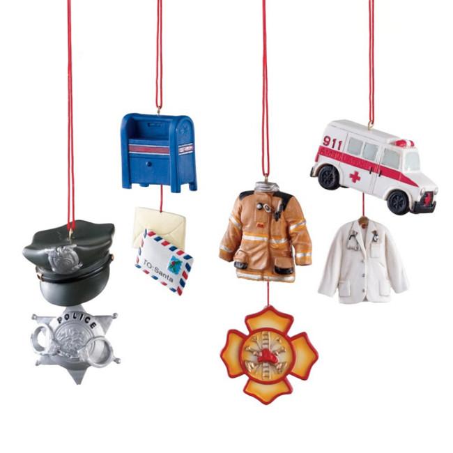 Police, EMT, Fire Fighter, or Postal Worker Profession Christmas Ornament 102329