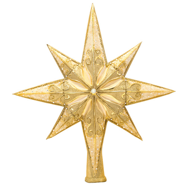 Christopher Radko Golden Radiance Glass Christmas Tree Topper 1017492