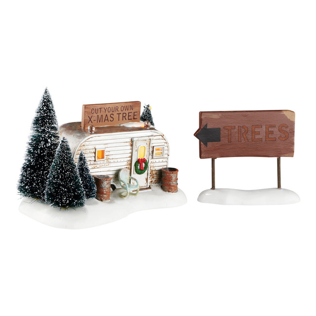 Department 56 Snow Village Christmas Vacation The Griswold Family Buys A Tree 4054985