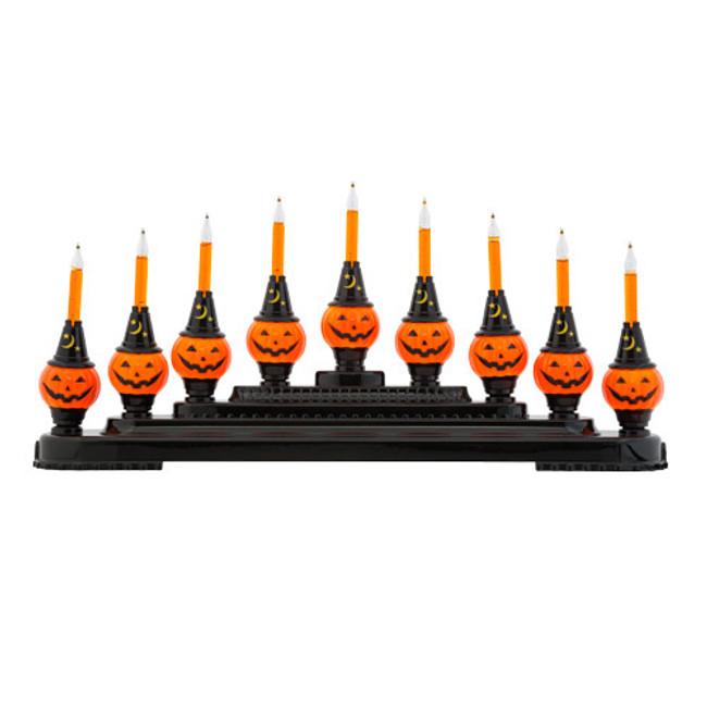 Christopher Radko Shiny Brite Halloween Bubble Bright Pumpkin Light Candolier 4027506
