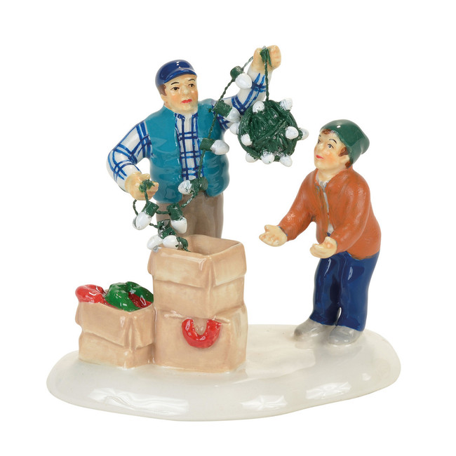 Department 56 Christmas Vacation Village Clark and Rusty Continue Tradition Figure 4058668