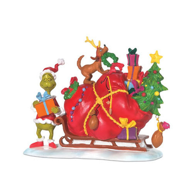 Department 56 Grinch Village The Grinch's Small Heart Grew Figure 804158