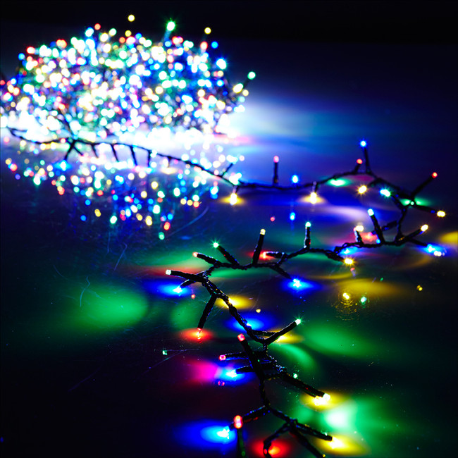 raz 8 function multi color led 73 christmas garland lights g3737057 - Led Multicolor Christmas Lights