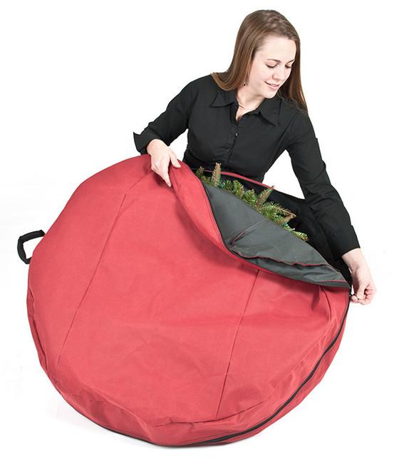 "Santa's Bags 36"" Direct Suspend Wreath Storage Bag with Handle 10175"