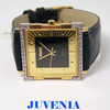 NEW 18K Gold JUVENIA MACHO Mens AUTOMATIC Watch with DIAMOND BEZEL