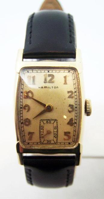 Vintage 14k HAMILTON TURNER Winding Watch c.1940s Cal 982* EXLNT* Tested* Rare