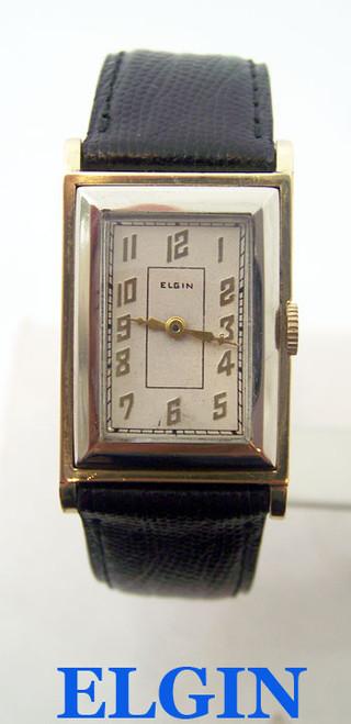 Vintage Mens 14k GF ELGIN Winding Watch 1940s EXLNT SERVICED