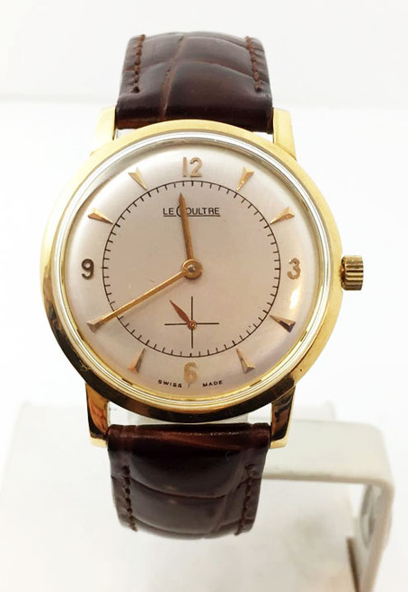 Vintage 18k Yellow LeCOULTRE Winding Mens Watch 1960s Cal.K480/CW * SERVICED