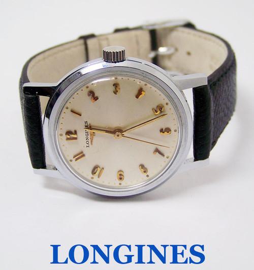 Vintage S/Steel LONGINES  Winding Watch c.1960's Cal 23 ZS* EXLNT* SERVICED