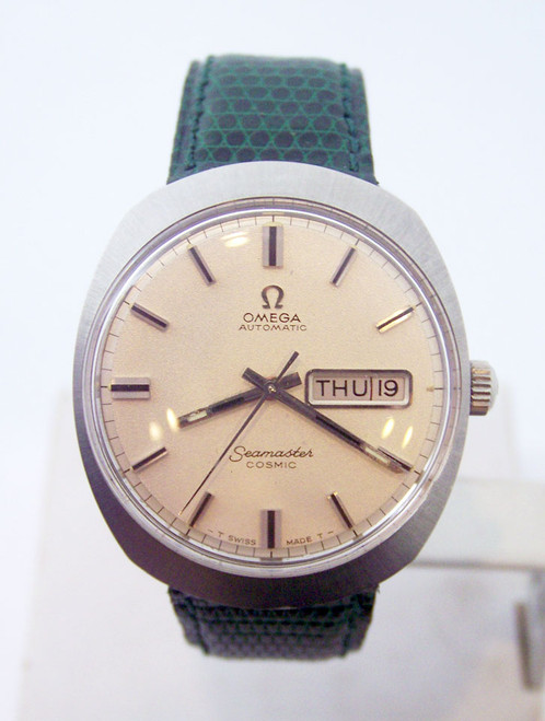 OMEGA SEAMASTER COSMIC Automatic Day Date Watch 1970s Cal 752 *EXLNT