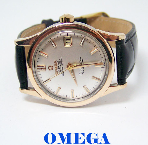 Vintage 14k Rose/Steel OMEGA CONSTELLATION CHRONOMETER Automatic Watch 1960s Cal 504