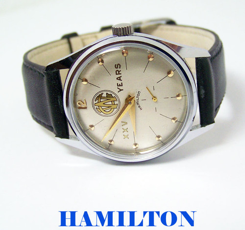 Vintage HAMILTON CW XXV YEARS Watch c.1950s Cal.770 EXLNT SERVICED