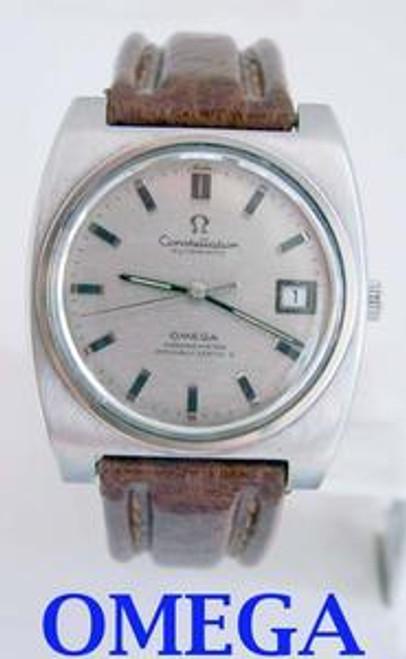 Mens c.1975 s/s OMEGA CONSTELLATION Chronometer Automatic Watch Cal 1022* EXLNT