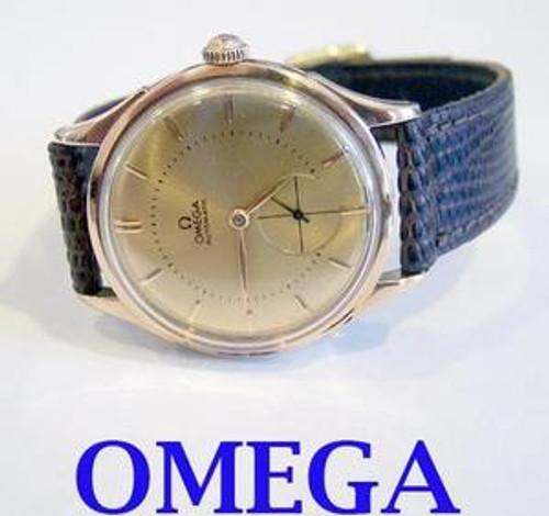 Rose 18k OMEGA Mens Automatic Watch Cal 30.10 RA PC c.1945* EXLNT