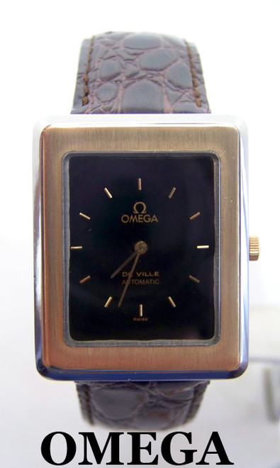 Have one to sell? Sell now Mens S/Steel & 14k OMEGA De VILLE Automatic Watch 1970s Cal 711* SERVICED* EXLNT