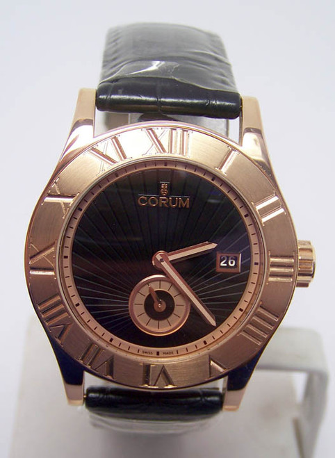 New Mens 18k Rose Gold CORUM ROMVLVS Automatic Watch Ref. 02.0002* BOX & PAPERS