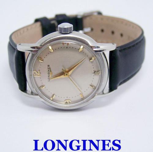 Vintage S/Steel LONGINES 17J  Winding Watch c.1960's Cal 23 ZS* EXLNT* SERVICED