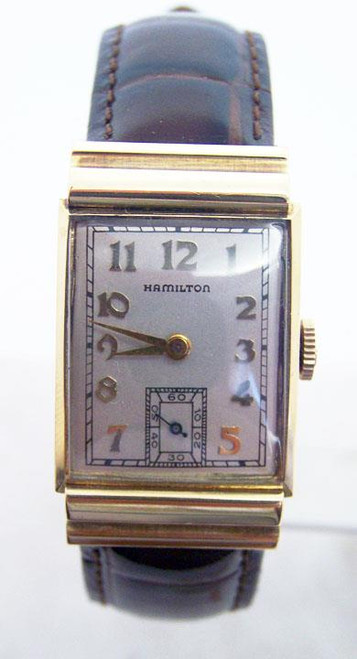 Vintage Solid 18k Gold HAMILTON Winding Watch c.1940s Cal 982* EXLNT* SERVICED