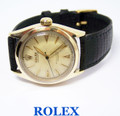 Vintage 10k ROLEX Oyster Perpetual Chronometer Automatic Watch c.1950s Ref.6084