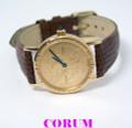 18k Yellow Gold CORUM Ladies Quartz Watch with $5 DOLLAR 24k Coin* EXLNT