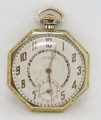 Gold Color NAMDOR Mens Winding Pocket watch circa 1920s in Good Cond* SERVICED