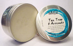 Bath & Soul Handmade Shave Soap in Tin - Tea Tree & Avocado