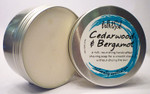 Bath & Soul Handmade Shave Soap in Tin - Cedarwood & Bergamot