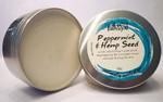 Bath & Soul Handmade Shave Soap in Tin - Peppermint & Hemp Seed