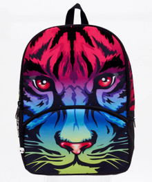 Mojo Backpacks Limited Edition Colorful Rainbow Tiger