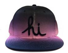 In4mation Andramada Snapback Hat Flat Brim Cap Black Pink Gradient IN4M-622