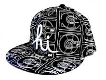 In4mation Lost Format Snapback Hat Flat Brim Cap Black IN4M-623