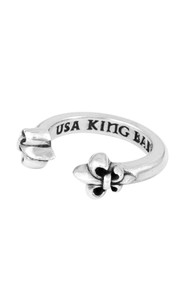 King Baby Open Ring with Fleur de Lis  K20-5965