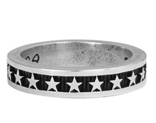 King Baby Studio Silver  Stackable Star Ring  K20-5168