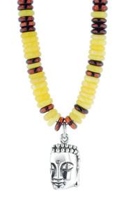 King Baby Mixed Amber Meditating Stone Buddha Pendant K51-5552