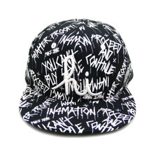 In4mation HI First Cut Snapback Hat Flat Brim Cap Black IN4M-749