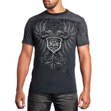Affliction Men's Agitator Short Sleeve T-Shirt Black Lava A10644
