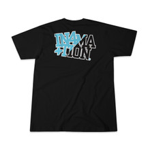 In4mation Men's Dualtone Black Blue Logo T-shirt IN4M-452