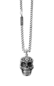King Baby Studio Small Carved Baroque Skull Pendant K10-5354