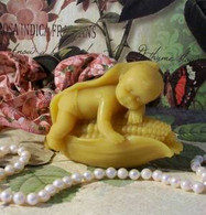 Silicone Baby Sleeping In Corn Soap Candle Mold